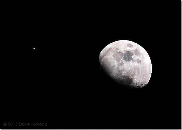Moon and Jupiter, 1-21-13